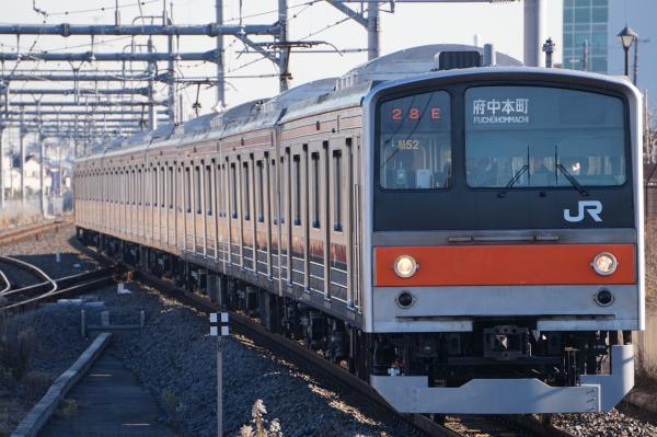 2016-12-17 武蔵野線205系ケヨM52編成 府中本町行き