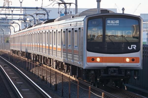 2016-12-17 武蔵野線205系ケヨM63編成 南船橋行き