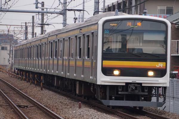 2017-01-20 南武線209系ナハ53編成 川崎行き