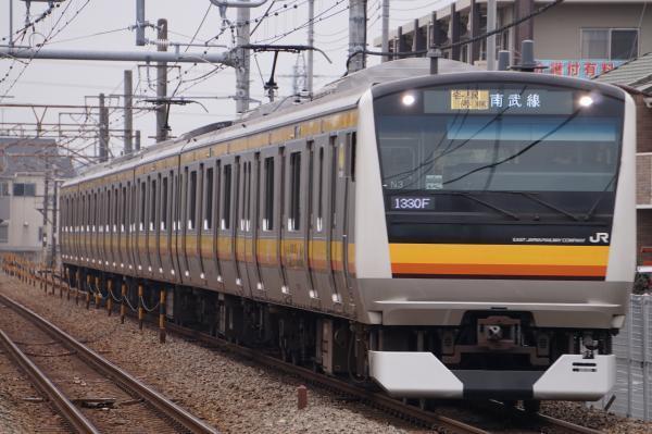 2017-01-20 南武線E233系ナハN3編成 各駅停車川崎行き