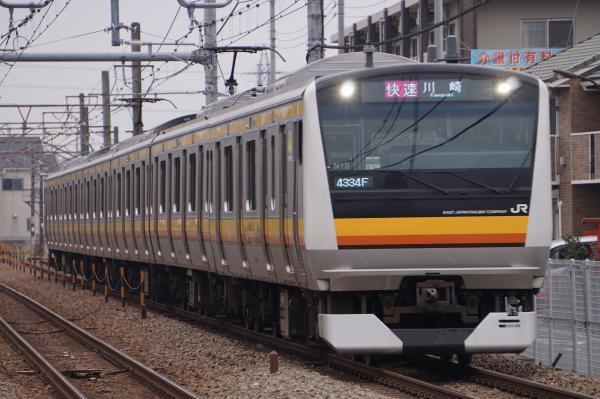 2017-01-20 南武線E233系ナハN18編成 快速川崎行き