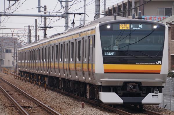 2017-01-20 南武線E233系ナハN26編成 各駅停車川崎行き