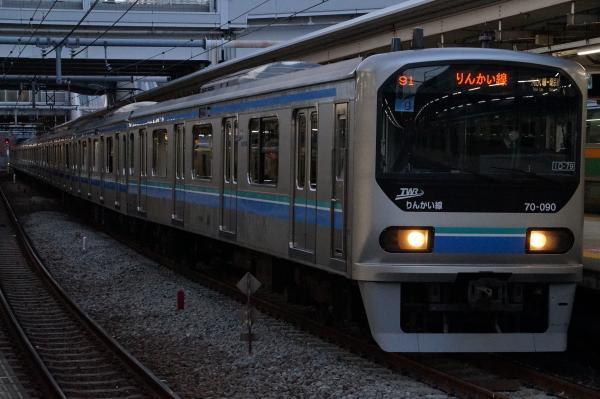 2017-02-07 りんかい線70-00形Z9編成 新木場行き1