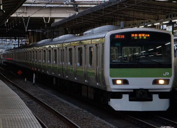2017-02-07 山手線E231系トウ501編成 渋谷・新宿方面行き