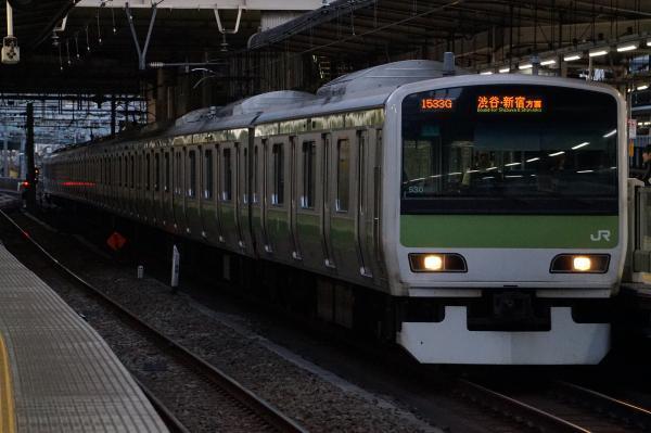 2017-02-07 山手線E231系トウ530編成 渋谷・新宿方面行き