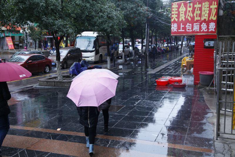 雨の桂林市