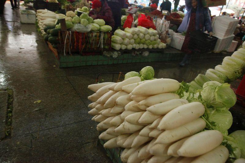 中国市場野菜