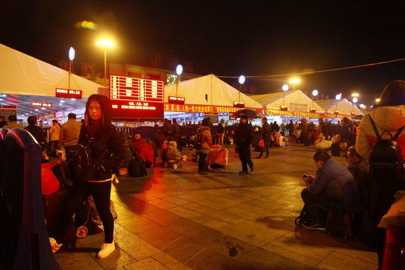 夜の広州駅