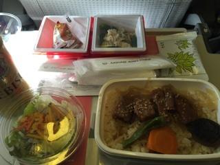 JAL機内食(成田→上海)