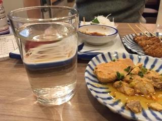 あん肝には日本酒(菊源水)