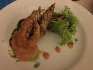 海老天ぷらサラダ