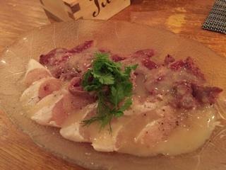 鶏レバー・ささみのカルパッチョ