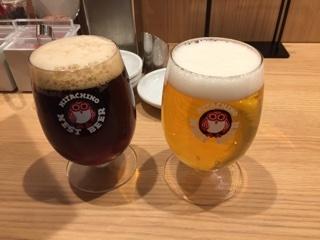 クラフトビール(アンバーエール・常陸野ネストラガー)
