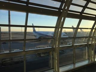 成田空港出発前