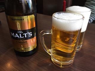 瓶ビール(モルツ中瓶)