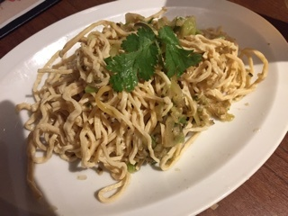 干豆腐の特製葱油和え