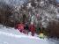 下りは林の中の新雪を踏んで。.jpg