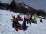 雪原の日溜りでのんびりお茶の時間。