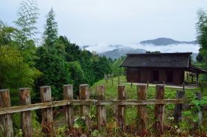 山中御殿前の郭からの眺め