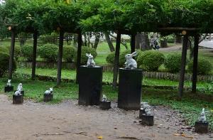 出雲大社境内の兎像
