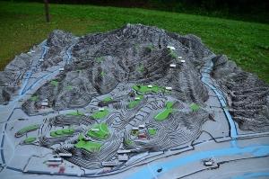 月山富田城 ジオラマ模型