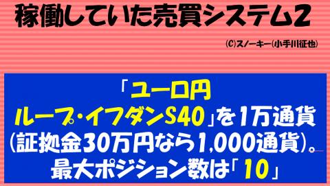 20161124ループ・イフダン検証ブログ売買システムユーロ円