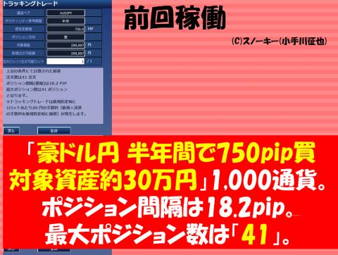 20161204トラッキングトレード戦略豪ドル円ロング