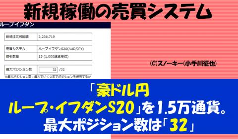 20161210ループ・イフダンデモ口座検証豪ドル円ショート