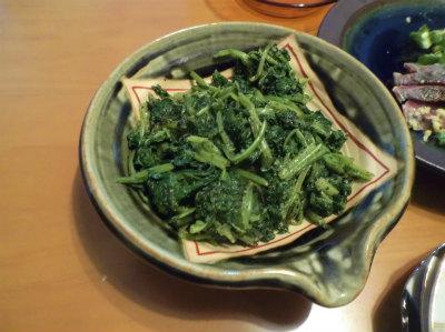 12.8カブ菜の胡麻和え