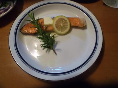 12.9鮭のレモンバター