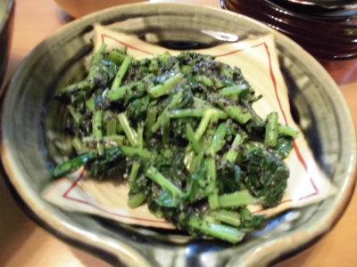 12.15のらぼう菜の胡麻和え