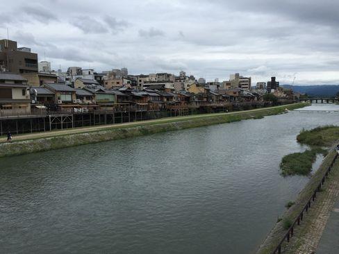 四条大橋から鴨川上流_H28.09.23撮影