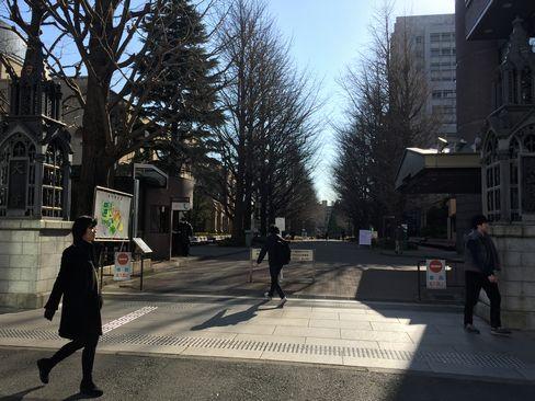 青山学院大学・正門_H29.01.07撮影