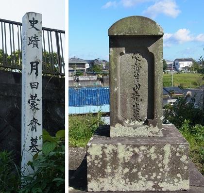 月田蒙斎墓