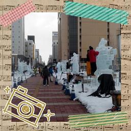 世界氷彫刻大会駅前