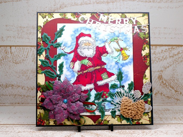 Penny Black-ragged santa Christmas card