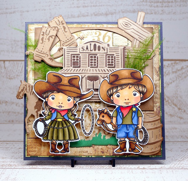 La-La Land Crafts - Cowboy Luka & Cowgirl Marci - Card Making
