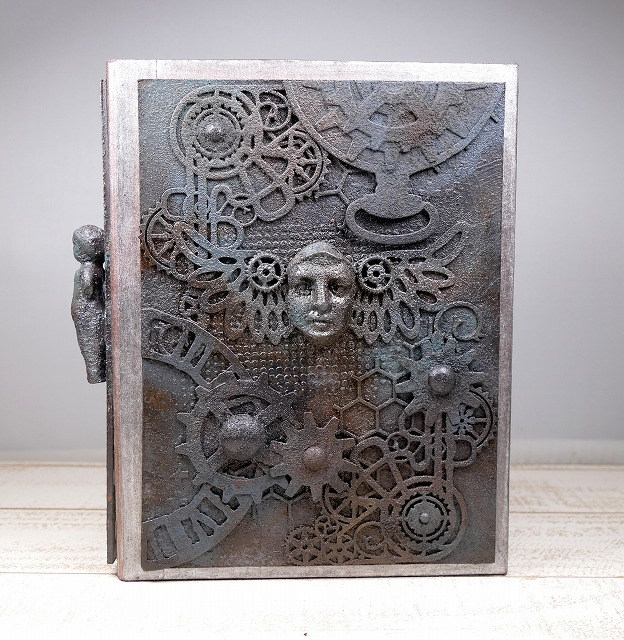 MixedMedia ATC holder Steampunk