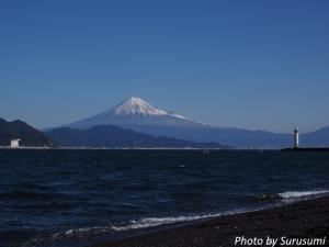 三保からの富士