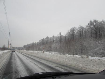 こんな雪景色を見ながら
