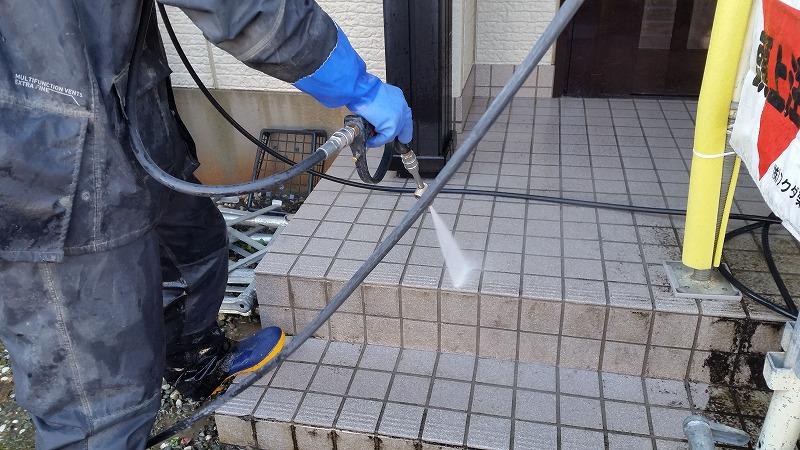 玄関土間洗浄