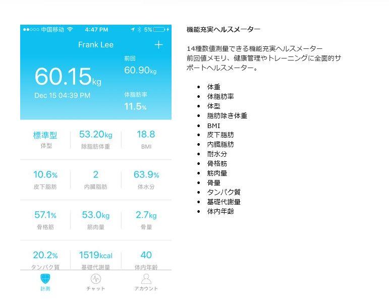 体重計アプリ
