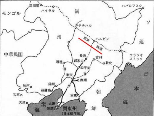 満州地図1_東支鉄道
