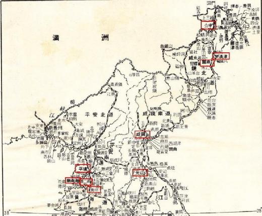 朝鮮地図貸座敷北朝鮮1