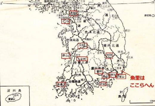 朝鮮地図貸座敷韓国1