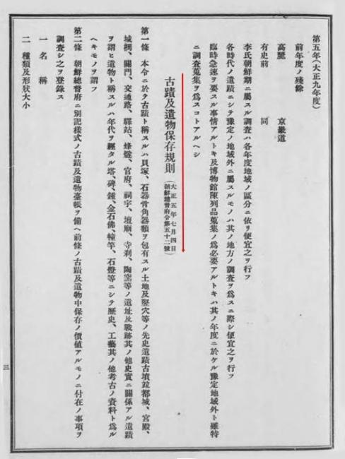 浮石寺古蹟遺物保存規則1