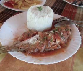 魚と飯マダガスカル海岸