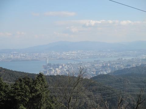 琵琶湖が見えるところまで