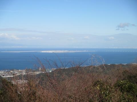 山頂から関西空港方面