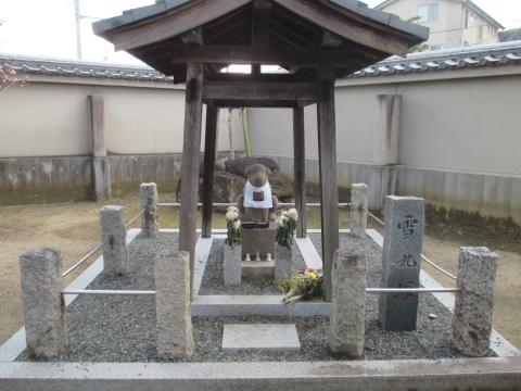 達磨寺 雪丸の像